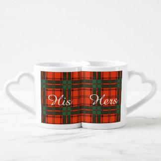 Maxwell clan Plaid Scottish tartan Coffee Mug Set