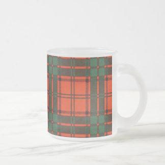 Maxwell clan Plaid Scottish tartan Frosted Glass Coffee Mug