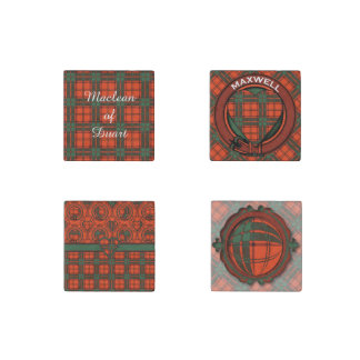 Maxwell clan Plaid Scottish tartan Stone Magnet