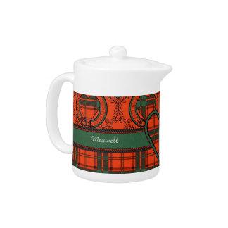 Maxwell clan Plaid Scottish tartan Teapot