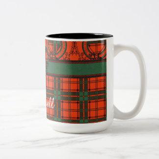Maxwell clan Plaid Scottish tartan Two-Tone Coffee Mug