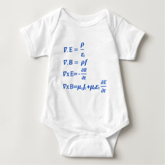 Maxwell Equation Baby Bodysuit