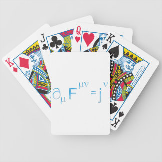 Maxwell equation equation bicycle playing cards