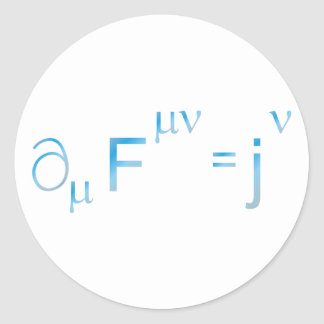 Maxwell equation equation round sticker