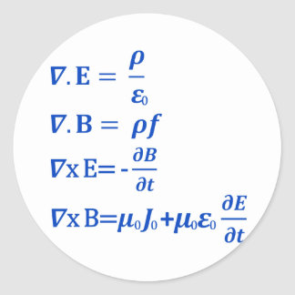 Maxwell Equation Stickers