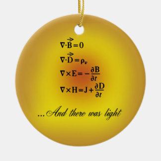 Maxwell Equations Ceramic Ornament