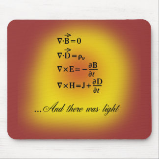 Maxwell Equations Mouse Pad