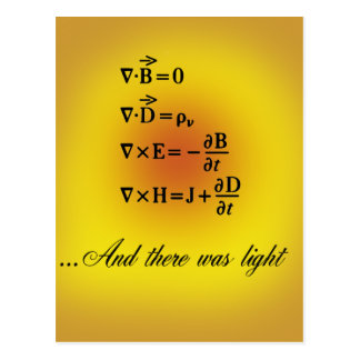 Maxwell Equations Postcard