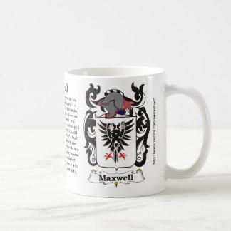 Maxwell Family Coat of Arms mug