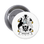 Maxwell Family Crest Pinback Buttons