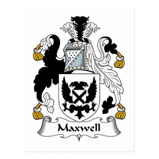 Maxwell Family Crest Postcard