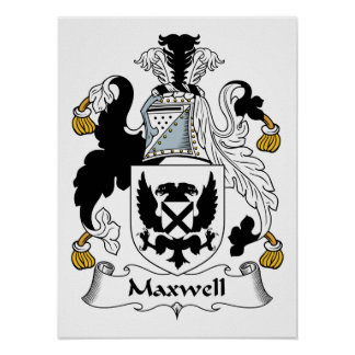 Maxwell Family Crest Poster