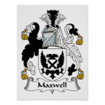 Maxwell Family Crest Posters