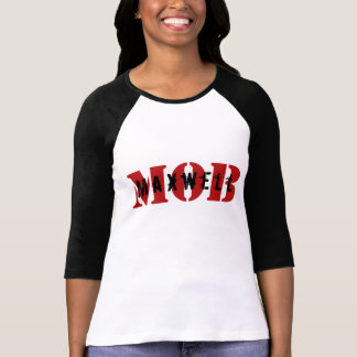 Maxwell MOB 3/4 Sleeve Raglan Fitted White Tee