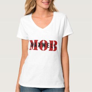 Maxwell MOB White V-Neck T-Shirt