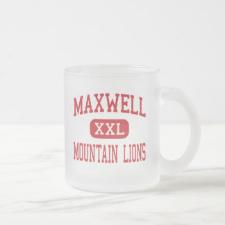 Maxwell - Mountain Lions - Middle - Tucson Arizona Frosted Glass Coffee Mug