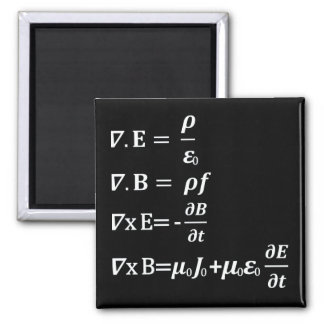 maxwell physics equation 2 inch square magnet