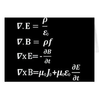 maxwell physics equation greeting card