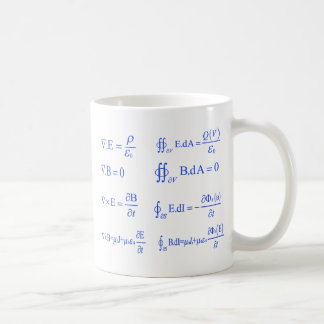 maxwell physics equation coffee mug