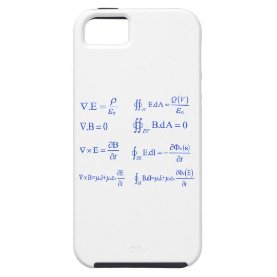 maxwell physics equation iPhone SE/5/5s case