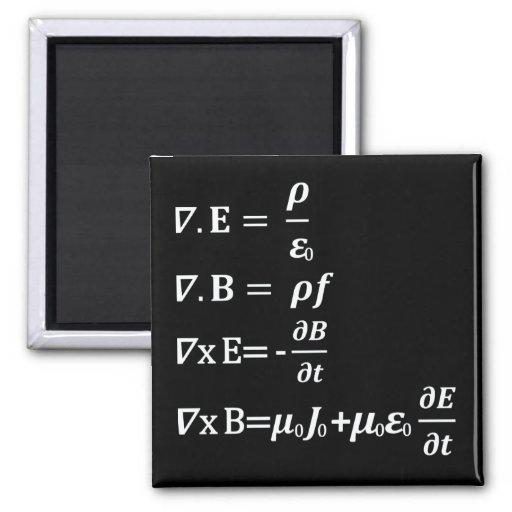 maxwell physics equation fridge magnets