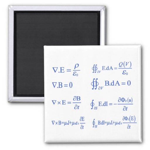maxwell physics equation refrigerator magnet