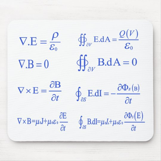 maxwell physics equation mouse pad