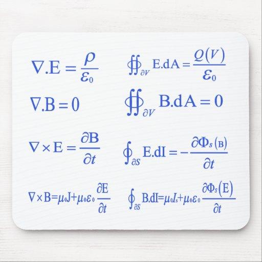maxwell physics equation mousepad