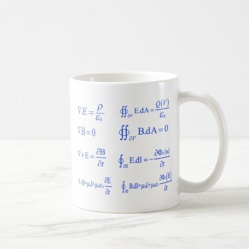 maxwell physics equation mug