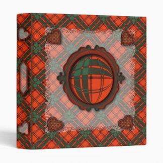 Maxwell Scottish clan tartan - Plaid 3 Ring Binder