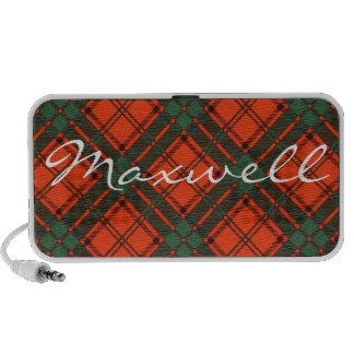 Maxwell Scottish clan tartan - Plaid Mini Speakers