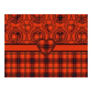 Maxwell Scottish Tartan Postcard