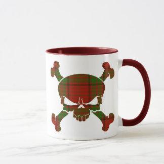 Maxwell Tartan Skull No Banner Mug