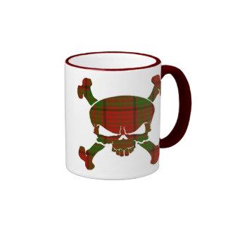 Maxwell Tartan Skull No Banner Coffee Mugs