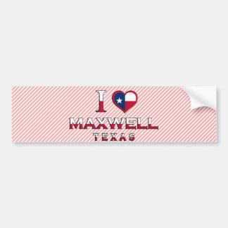 Maxwell, Texas Car Bumper Sticker