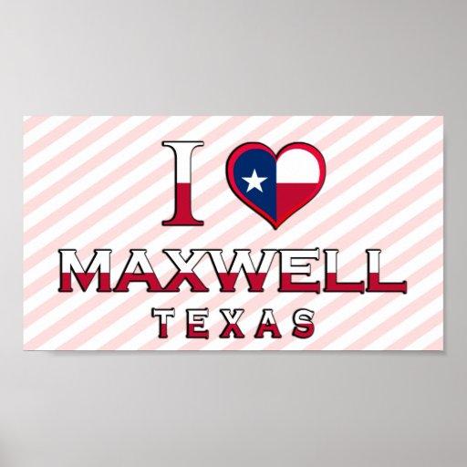 Maxwell, Texas Print