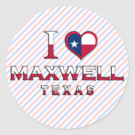 Maxwell, Texas Round Stickers