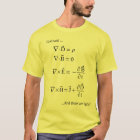 """Maxwell's Eqns (God said, """"Let there be light"""") T-Shirt"""