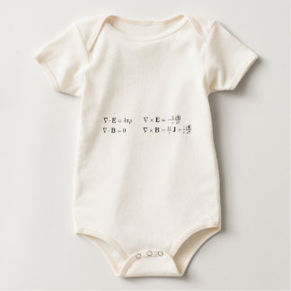 Maxwell's equations, differential form, cgs baby bodysuit