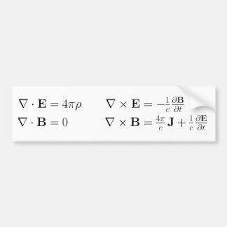 Maxwell's equations, differential form, cgs bumper sticker