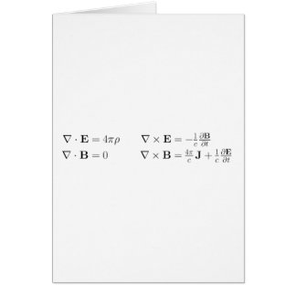 Maxwell's equations, differential form, cgs card