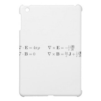 Maxwell's equations, differential form, cgs iPad mini cover
