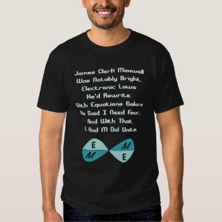 Maxwell's Equations Tshirts