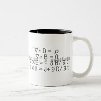 Maxwell's_Equations Two-Tone Coffee Mug