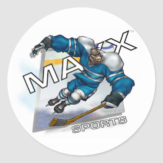 Maxx Hockey Round Sticker