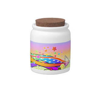 Maxxed Pop Art MARTINI CANDY or SNACK JAR Candy Dishes
