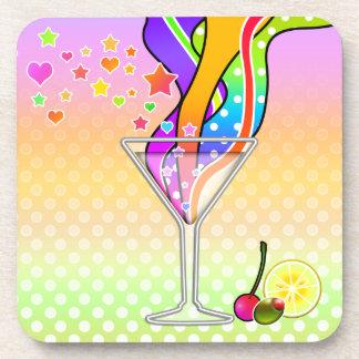 Maxxed Pop Art Martini Coasters, Set of 6 Beverage Coaster