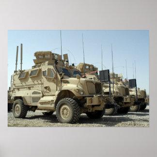MaxxPro Mine Resistant Ambush Protected vehicle Poster