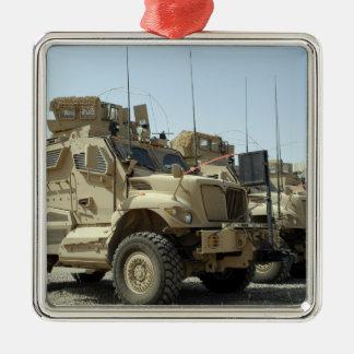 MaxxPro Mine Resistant Ambush Protected vehicle Square Metal Christmas Ornament