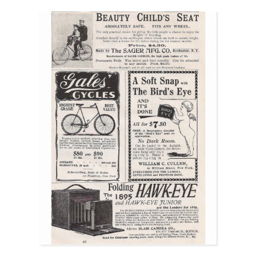 May 1895 Harper's Ads Postcard